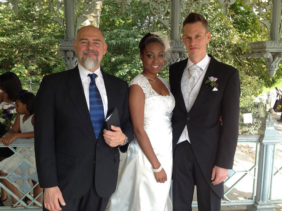 NYC Officiant Peter Boruchowitz with Wedding Couple
