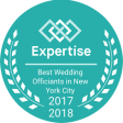 Our Wedding Officiant NYC Expertise.com Top Officiant Award